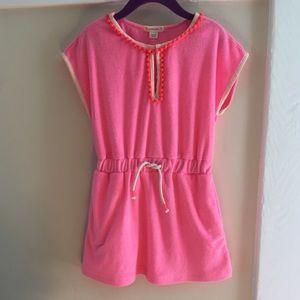  J. Crew Pink Terry Pom Pom Dress